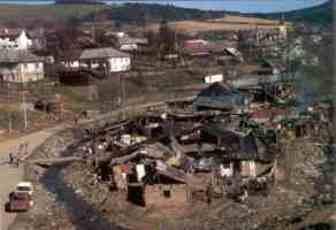 Slums gibt es auch in Europa ! Ein Roma-Dorf.
